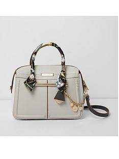 river-island-river-island-scarf-handle-cream-bowler-bag