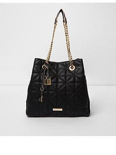 river-island-black-quilted-chain-bag