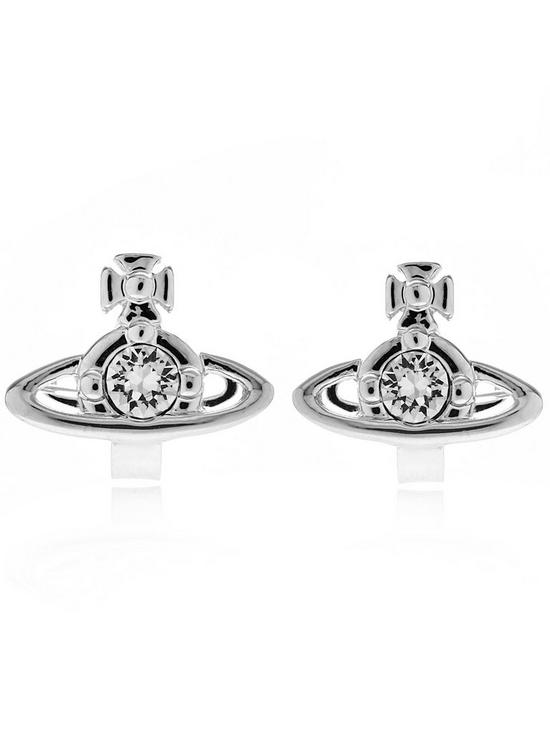 53ca42988 VIVIENNE WESTWOOD Nano Solitaire Earrings-Silver | very.co.uk