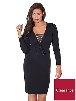 jessica-wright-zelia-lace-up-bodycon-dress-black
