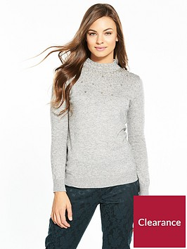 wallis-scatter-bead-high-neck-jumper-grey