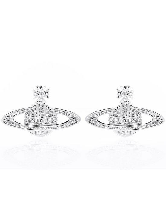 5ce06b4df VIVIENNE WESTWOOD Mini Bas Relief Earrings-Silver | very.co.uk