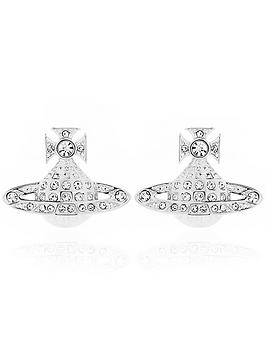 vivienne-westwood-mini-bas-relief-earrings-silver