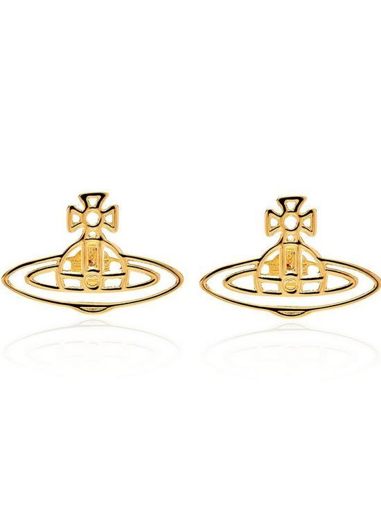 63d0921d2 VIVIENNE WESTWOOD Thin Lines Orb Stud Earrings-Gold | very.co.uk