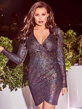 Jessica Wright Bruni Wrap Front Dress