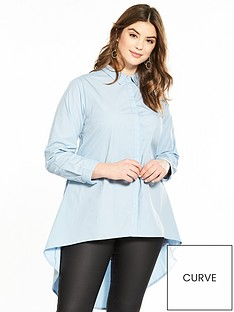 v-by-very-curve-dipped-hem-corset-back-shirt-pale-blue