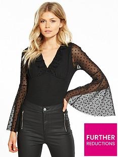 v-by-very-petite-spot-mesh-bodysuit