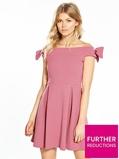 v-by-very-petite-bardot-skater-dress