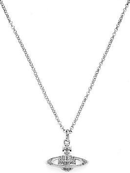 vivienne-westwood-mini-bas-relief-pendant-necklace-silver