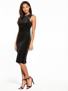 wallis-velvet-lattice-shoulder-dress
