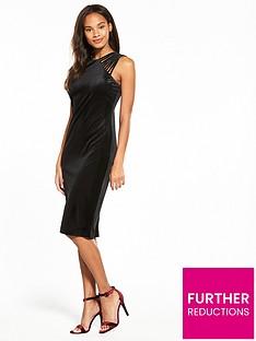 wallis-velvet-lattice-shoulder-dress