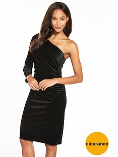 wallis-one-shoulder-velvet-sparkle-dress