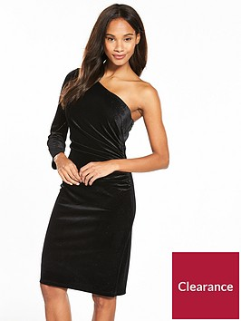 wallis-one-shoulder-velvet-sparkle-dress