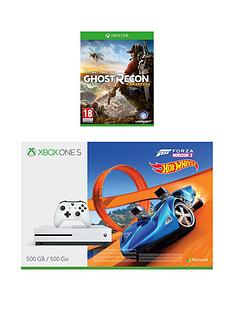 xbox-one-s-500gbnbspconsole-with-forza-horizon-3-hot-wheels-andnbspghost-recon-wildlandsnbspplus-optional-extra-controller-andor-12-months-live-gold
