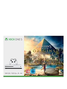 xbox-one-s-500gbnbspconsole-with-assassins-creednbsporigins-plus-optional-extra-controller-andor-12-months-live-gold