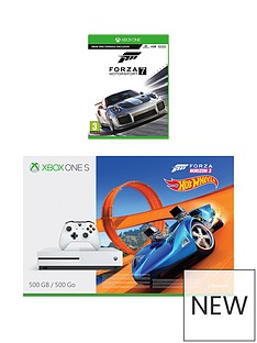 xbox-one-s-500gbnbspconsole-withnbspforza-horizon-3-hot-wheels-andnbspforza-7nbspplus-optional-extra-controller-andor-12-months-xbox-live-gold