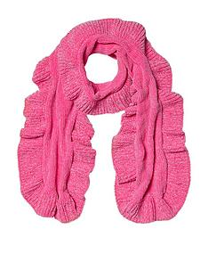 river-island-river-island-girls-pink-chenille-ruffle-scarf