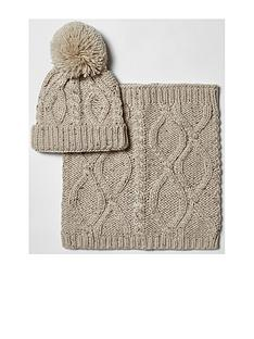 river-island-river-island-boys-cable-clash-beanie-and-snood-set