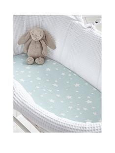 silentnight-silentnight-pk-2-jeresy-printed-stars-fitted-moses-basket-sheets