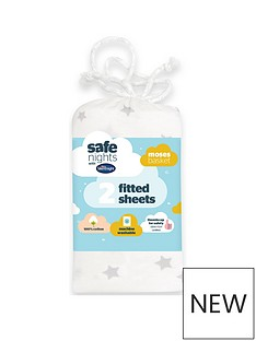 silentnight-silentnight-pk-2-jeresy-printed-stars-fitted-moses-basket-sheets