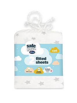 silentnight-silentnight-pk-2-jeresy-printed-stars-fitted-cot-sheets