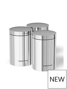 morphy-richards-accents-set-of-3-storage-canisters-ndash-stainless-steel