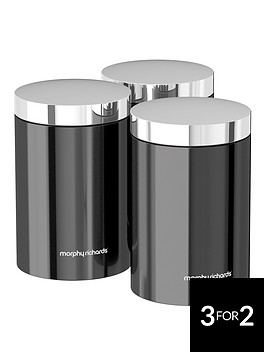 morphy-richards-accents-set-of-3-storage-canisters-ndash-black