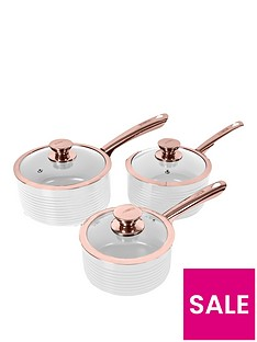tower-linear-rose-gold-3-piece-saucepan-set-in-white