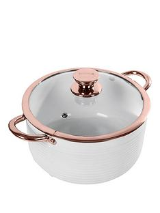 tower-linear-rose-gold-24-cm-casserole-pan-in-white