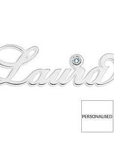 the-love-silver-collection-sterling-silver-personalised-birthstone-necklace