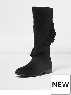river-island-ruffle-knee-high-boot