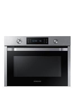 Samsung Nq50K3130Bs/Eu 50-Litre Built-In Solo Microwave With Self Steam Clean And 5 Year Samsung Parts And Labour Warranty - Stainless Steel