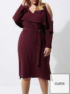 ri-plus-frill-midi-dress--berry