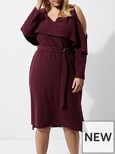 ri-plus-frill-midi-dress--berry