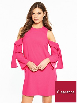 river-island-river-island-cold-shoulder-swing-dress--bright-pink