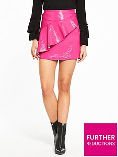 river-island-vinyl-mini-skirt--fuscia