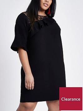ri-plus-lace-mix-dress--black