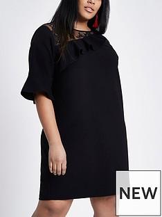 ri-plus-ri-plus-lace-mix-dress--black