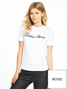 v-by-very-petite-ruffle-sleeve-slogan-tshirt