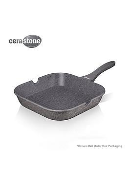 tower-cerastone-24-cm-forged-grill-pan-in-grey
