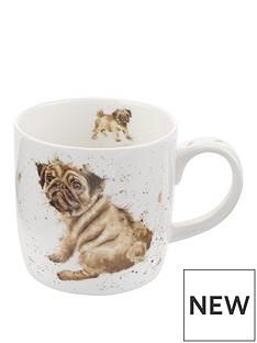 royal-worcester-wrendale-pug-love-mug