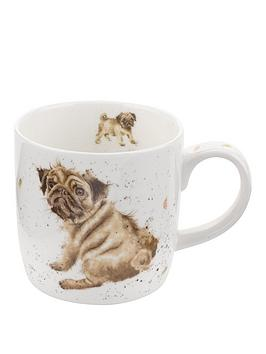 royal-worcester-wrendale-pug-love-mug