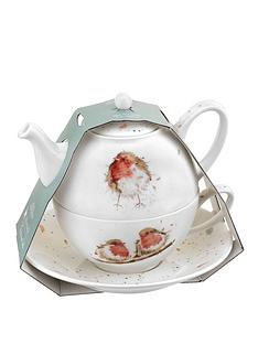 royal-worcester-wrendale-tea-for-one-set-with-saucer-ndash-robins