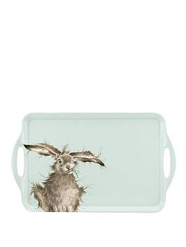 royal-worcester-wrendale-large-handled-tray-ndash-hare