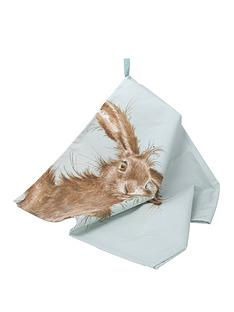 royal-worcester-wrendale-tea-towel-hare