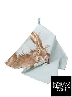 royal-worcester-wrendale-tea-towel-hare
