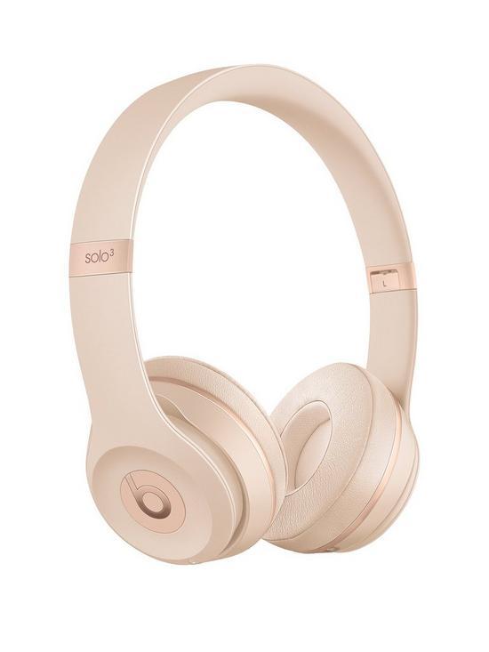 3ff8e212cce Beats by Dr Dre Solo 3 Wireless On-Ear Headphones - Matt Gold | very ...