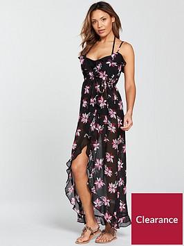 v-by-very-chiffon-ruffle-wrap-beach-maxi-dress