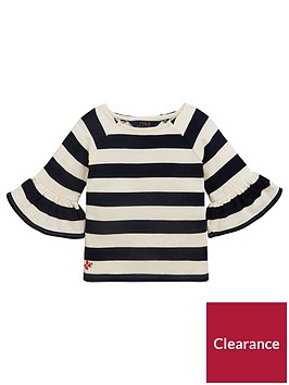 ralph-lauren-girls-stripe-ruffle-top-cream-navy