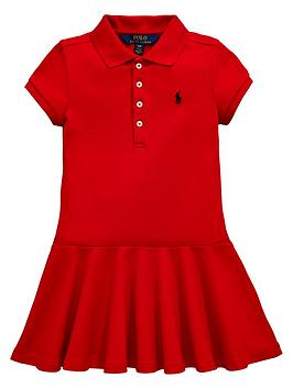 ralph-lauren-girls-short-sleeve-polo-dress-red